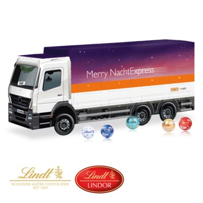 Picture of LINDT 3D TRUCK CHOCOLATE ADVENT CALENDAR