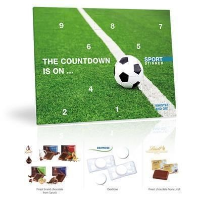 Picture of PERSONALISED LINDT CHOCOLATE FOOTBALL COUNTDOWN CALENDAR