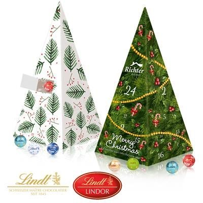 Picture of PERSONALISED LINDT PYRAMID SHAPE ADVENT CALENDAR