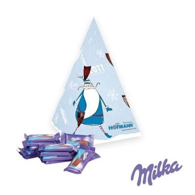 Picture of PERSONALISED MILKA CHOCOLATE CHRISTMAS PYRAMID GIFT BOX
