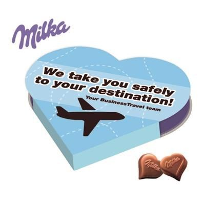 Picture of PERSONALISED MILKA HEART SHAPE CHOCOLATE GIFT BOX
