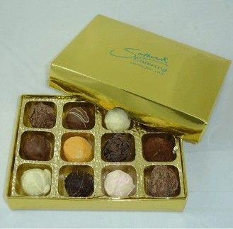 Picture of PERSONALISED BOX OF CHOCOLATE TRUFFLES