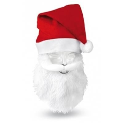 Picture of CHRISTMAS HAT in Polyester with Built-in Beard