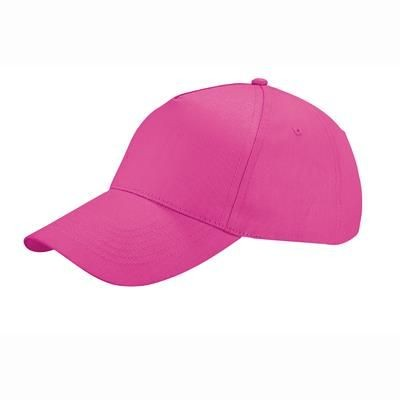 Picture of COTTON 5 PANELS BASEBALL CAP with Adjustable Velcro Closing