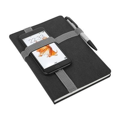 Picture of STRIPE NOTE BOOK with Elastic Holder on the Cover