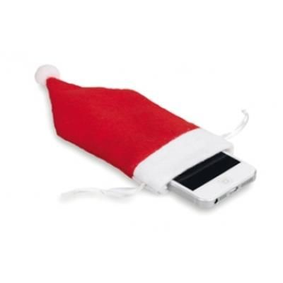 Picture of CHRISTMAS MOBILE PHONE POUCH with Father Christmas Father Christmas Santa Hat Design