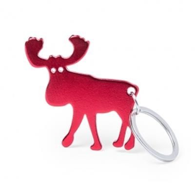 Picture of KEYRING CHAIN OPENER in Aluminium Metal with Reindeer Design
