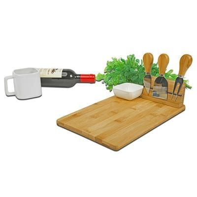 Picture of CHEESE CHOPPING BOARD with Cutlery & Bowl