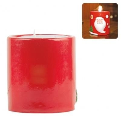 Picture of CHRISTMAS DESIGN CANDLE in Ceramic Pottery Jar