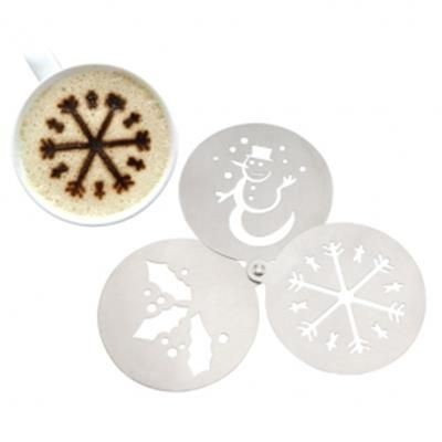 Picture of SET OF 3 LITTLE STAINLESS STEEL METAL STENCILS