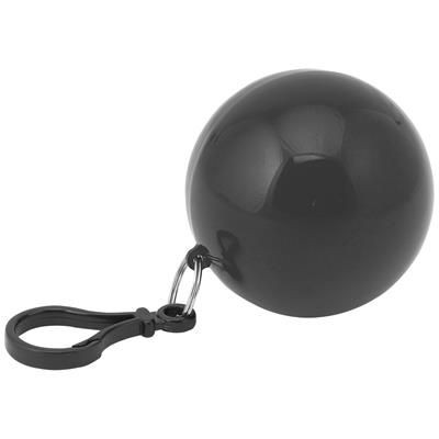 Picture of FOLDING DISPOSABLE PONCHO in Plastic Ball with Carabiner On