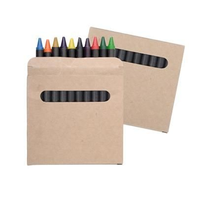 Picture of COLOUR WAX CRAYON SET in Cardboard Card Box