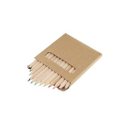 Picture of SHORT COLOURING PENCIL SET in Cardboard Card Box of 12 Pcs