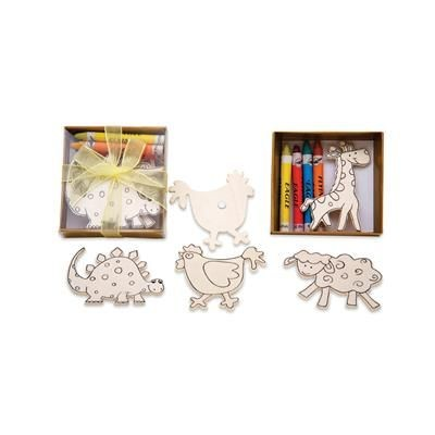 Picture of MAGNETIC WOOD FIGURES SET with Pastels