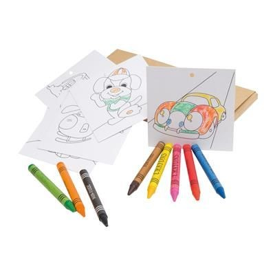 Picture of SET with 8 Crayons & 8 Colouring Cards
