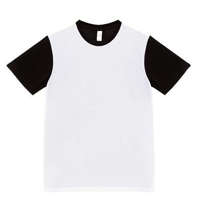 Picture of SHORT SLEEVE TEE SHIRT with Shirtfront in Urban Sports Fabric & Back Side in Cotton Touch Single Jer