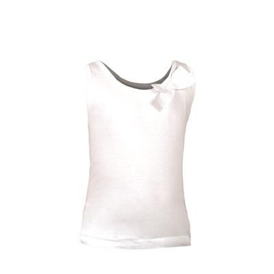 Picture of SLEEVESLESS TEE SHIRT with Bow at Neckline