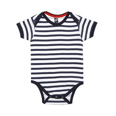 Picture of SHORT SLEEVE SAILOR STRIPE BABY BODYSUIT