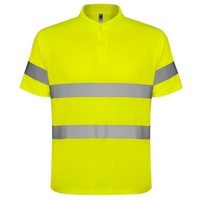 Picture of HIGH VISIBILITY SHORT SLEEVE POLO SHIRT with Three Buttons Placket
