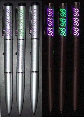 Picture of ETCHED LIGHT UP BALL PEN in Silver