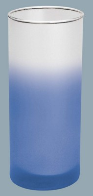 Picture of FROSTED COLOUR CHANGING GLASS in Blue