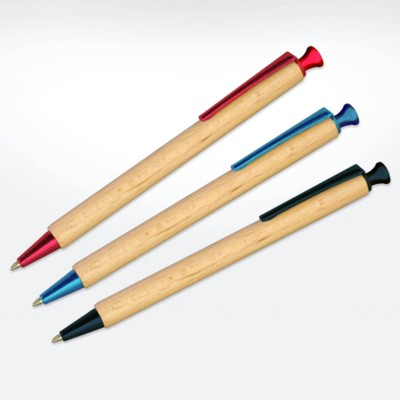 Picture of GREEN & GOOD SUSTAINABLE TIMBER ALBERO PEN with Colour Trim