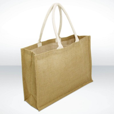 Picture of GREEN & GOOD YORK JUTE LARGE LANDSCAPE BAG TOTE BAG FOR LIFE in Biscuit Colour