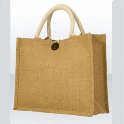 Picture of GREEN & GOOD DUNDEE JUTE GIFT BAG in Biscuit