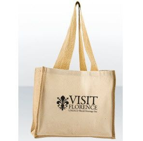Picture of GREEN & GOOD EVESHAM COMBO SHOPPER TOTE BAG with Bottle Holder