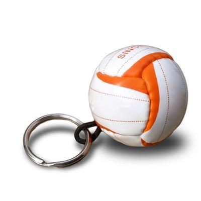 Picture of PVC MINI FOOTBALL KEYRING in White
