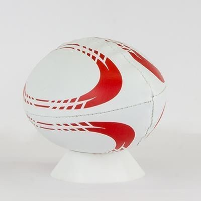 Picture of MINI SIZE 0 SOFT FILLED RUGBY BALL in PVC