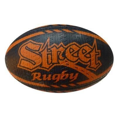 Picture of SIZE 5 RUBBER TYRE EFFECT RUGBY BALL