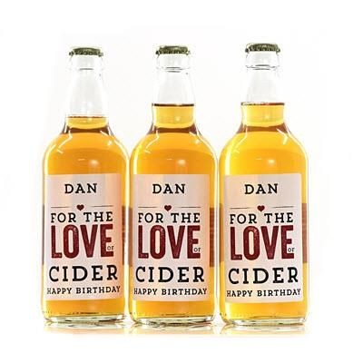 Picture of PERSONALISED CIDER BOTTLE