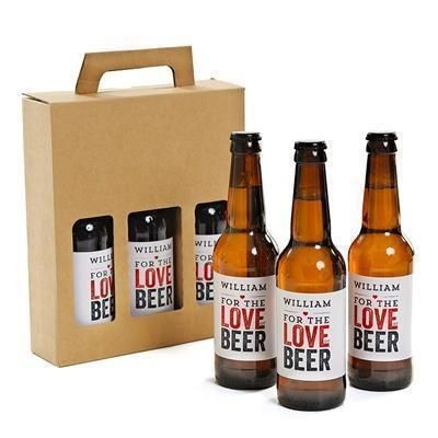 Picture of PERSONALISED 3 BOTTLE BEER GIFT PACK