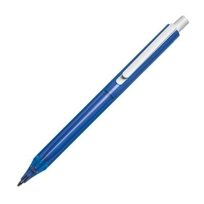 Picture of CLEAR TRANSPARENT PLASTIC BALL PEN in Blue