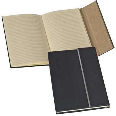 Picture of RUBBERISZED A5 NOTE BOOK with Metal Stripe