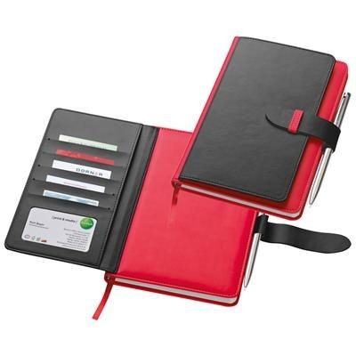 Picture of PU A5 NOTE BOOK with 128 Lined Pages in Red