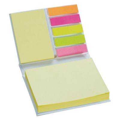 Picture of STICKY NOTES PAD & INDEX MARKER in White & Yellow