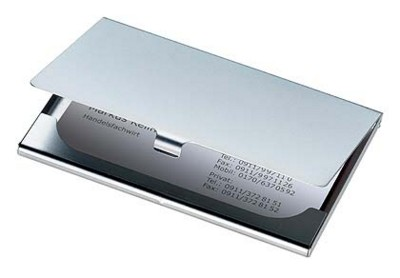 Picture of METAL BUSINESS CARD HOLDER in Silver Matt Finish