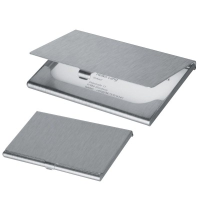 Picture of ALUMINIUM METAL BUSINESS CARD HOLDER in Grey