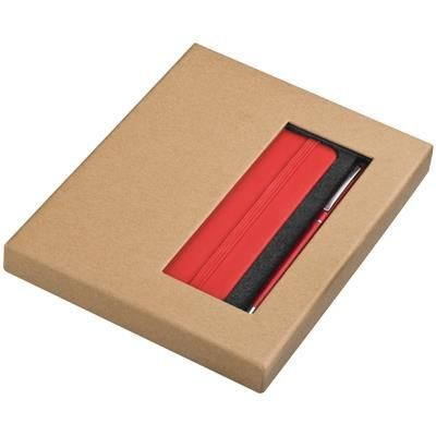 Picture of NOTE BOOK AND BALL PEN SET in Red