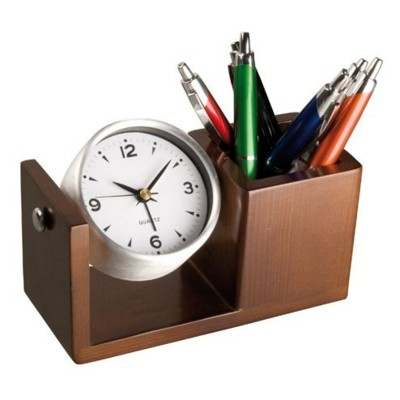 Picture of ROTATING ALUMINIUM METAL SILVER METAL DESK CLOCK