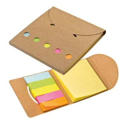 Picture of STICKY NOTE PAD SET in Brown