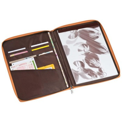 Picture of A4 NYLON CONFERENCE FOLDER WRITING CASE with Zipper in Orange