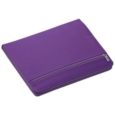 Picture of A4 NYLON CONFERENCE FOLDER WRITING CASE with Zipper in Violet