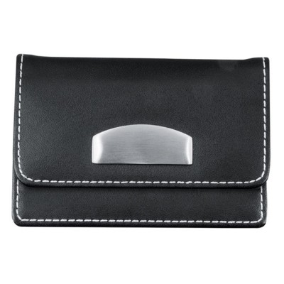 Picture of CRISMA DELUXE LEATHER BUSINESS CARD HOLDER in Black