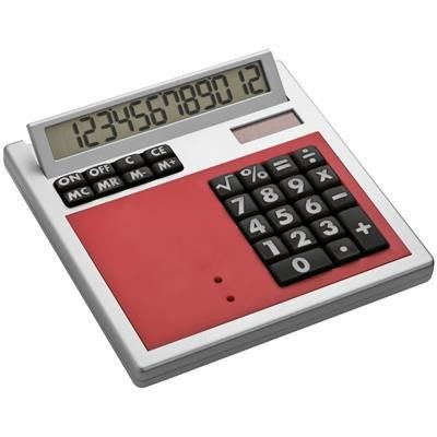 Picture of CRISMA OWN DESIGN CALCULATOR with Insert in Red
