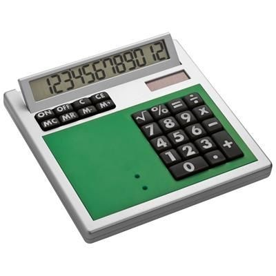 Picture of CRISMA OWN DESIGN CALCULATOR with Insert in Green