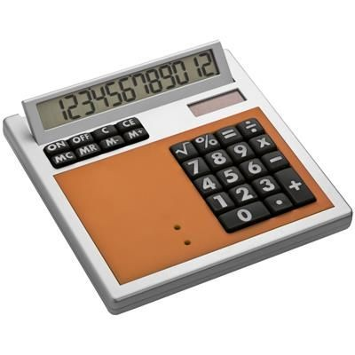 Picture of CRISMA OWN DESIGN CALCULATOR with Insert in Orange