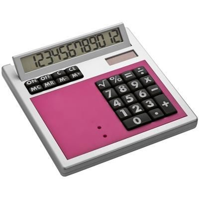 Picture of CRISMA OWN DESIGN CALCULATOR with Insert in Pink